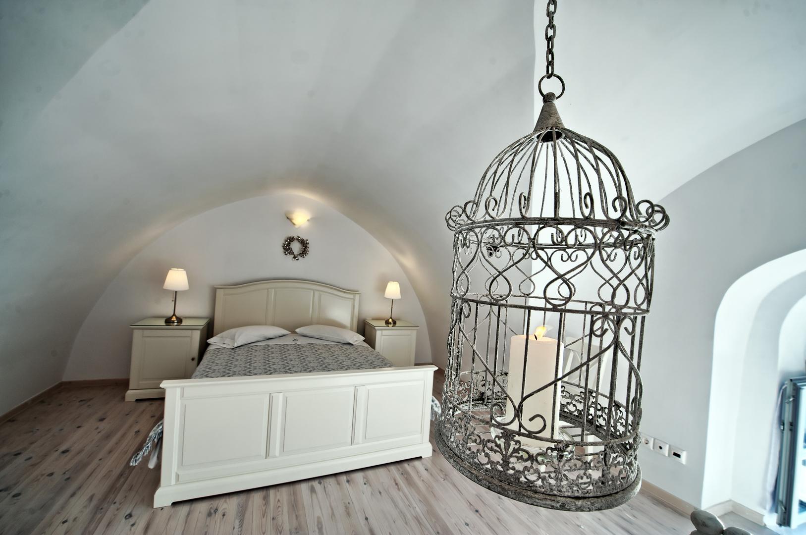 Archontiko Santorini bedroom