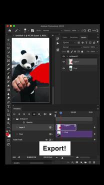 Adobe Photoshop TIK TOK promo