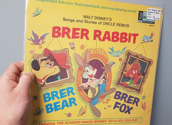 Walt Disney Brer Rabbit Story Book & LP
