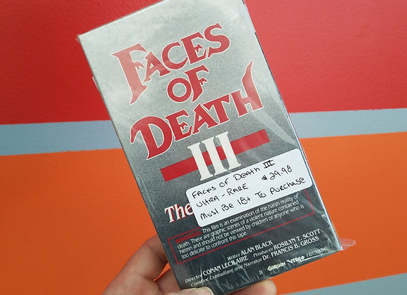 Faces Of Death III - VHS