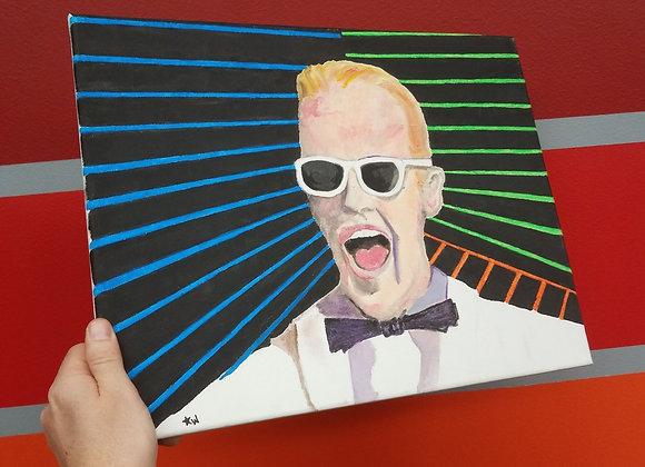 Max Headroom - Fan Art - Oil Painting