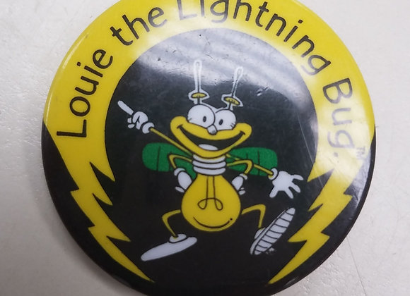 Louie The Lightning Bug - Vintage Button