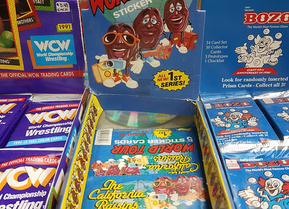 California Raisins Sticker Cards