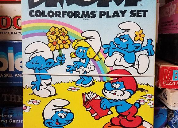 Vintage Smurf Colorforms Set