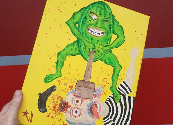 Watermelon Smashing Gallagher - Oil Painting