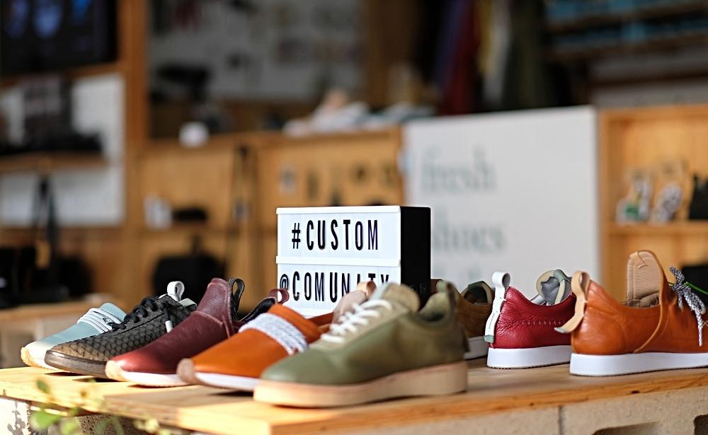 Handmade shoes at Comunity