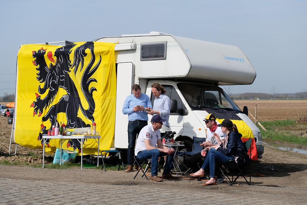 Fans camp out in anticipation of Paris-Roubaix
