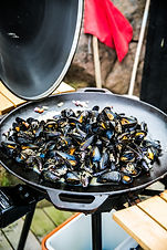 Cooked mussels- Photo Cred Madeleine Lan
