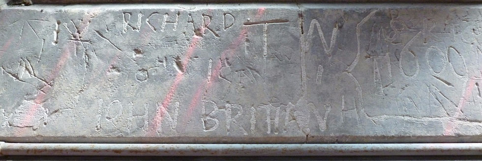 St John the Baptist graffiti