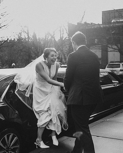 Candids of a bride who's smile never lef