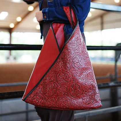 Leather Kimono Bag with Fringe