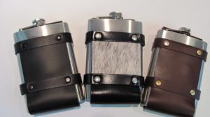 8oz Leather Flask