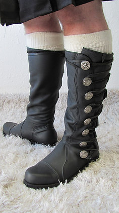 King Richard Leather Knee Boots