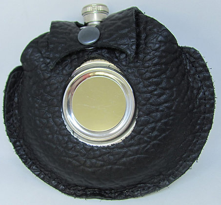 Leather Flask with collapsing shot glass