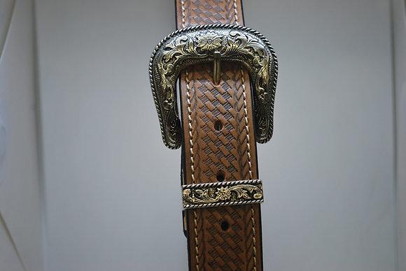 Leather Basket Weave Belt