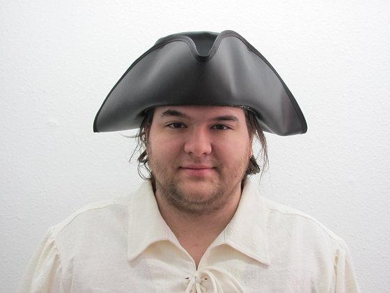 Blackbeard Tricorner Leather Hat