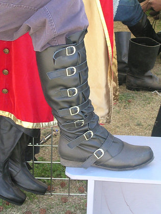 Strider Buckle Leather Boots