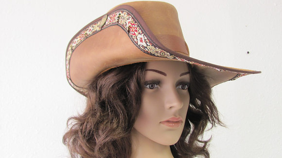 Musketeer Leather Hat with Trim
