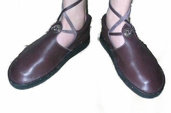 Ladies Handmade Leather Concho Shoes