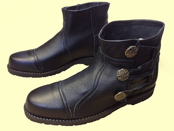 Mens King Richard Ankle Boots with 3 Conchos
