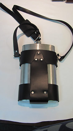 64oz Flask with Leather Holder