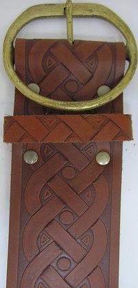 "Leather Embossed Belt - 3"" Width"