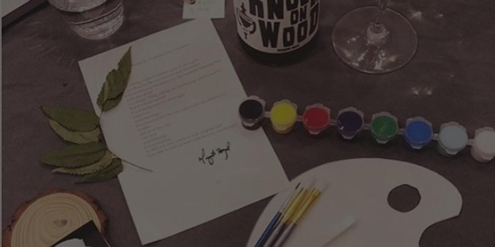 Pasadena Villa's Virtual Paint, Sip and Vibe Session