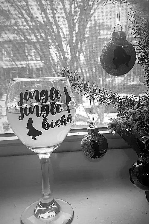 Twerk the Halls - Jingle Jingle Bishhh Wine Glass