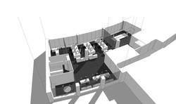 Proposta de remodelação e mobiliário para Escritórios em Lisboa; (colaboração com Casa da Bica. Atel