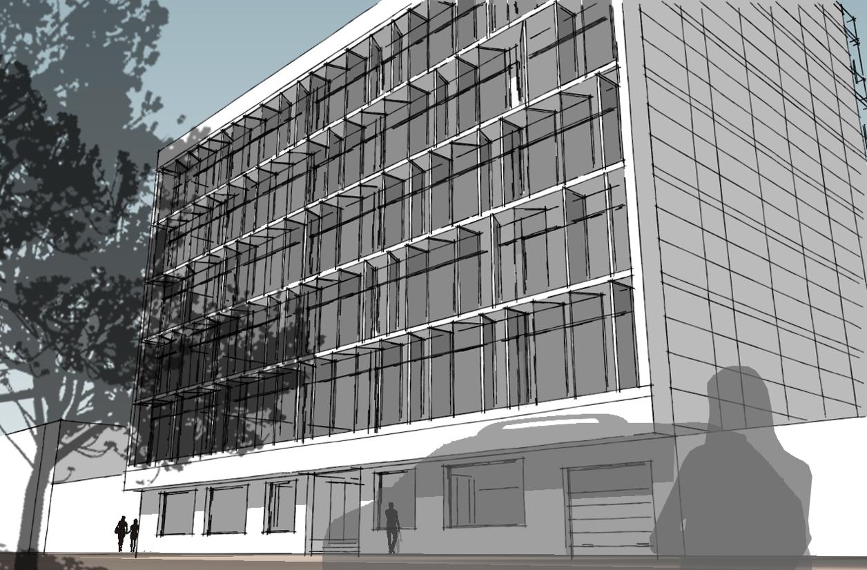 Projecto para Edifício de Escritórios em Benguela, Angola; (projecto em colaboração)