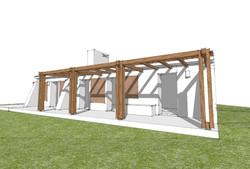 Proposta de Recuperação e Ampliação de Habitação Rural em taipa_Ourique