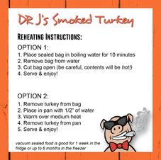Smoked Turkey Reheating Instructions