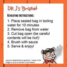 Brisket Reheating Instructions