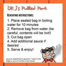 Pulled Pork Reheating Instructions