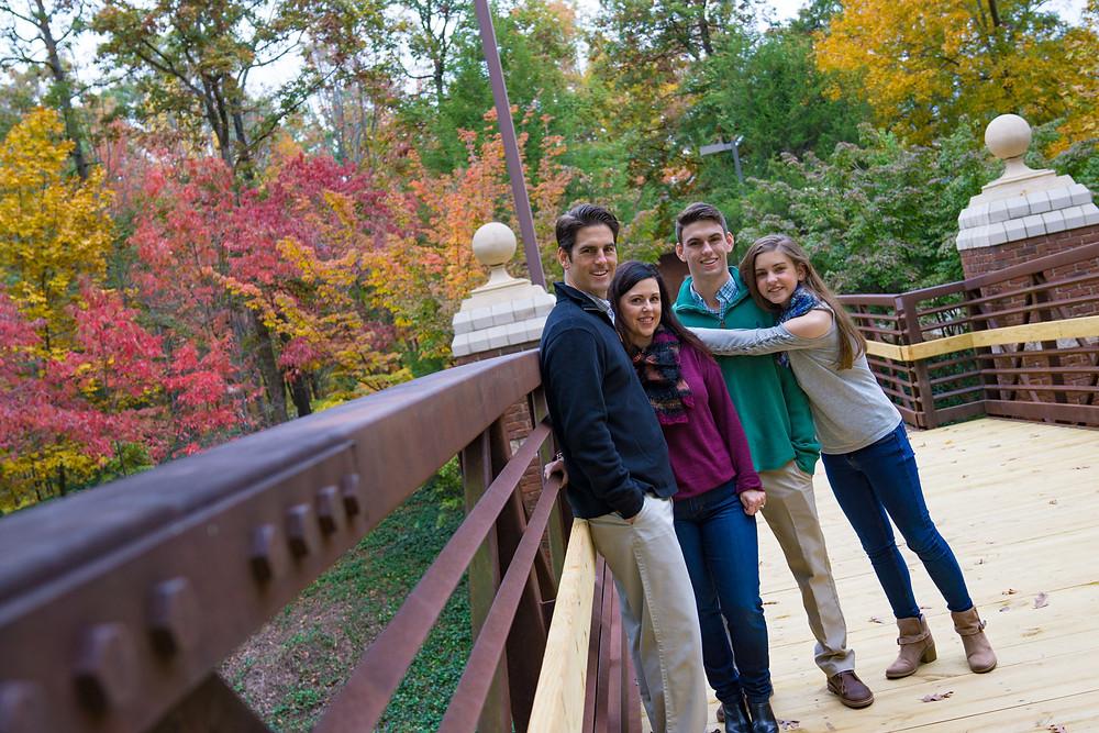Family portrait at Furman University