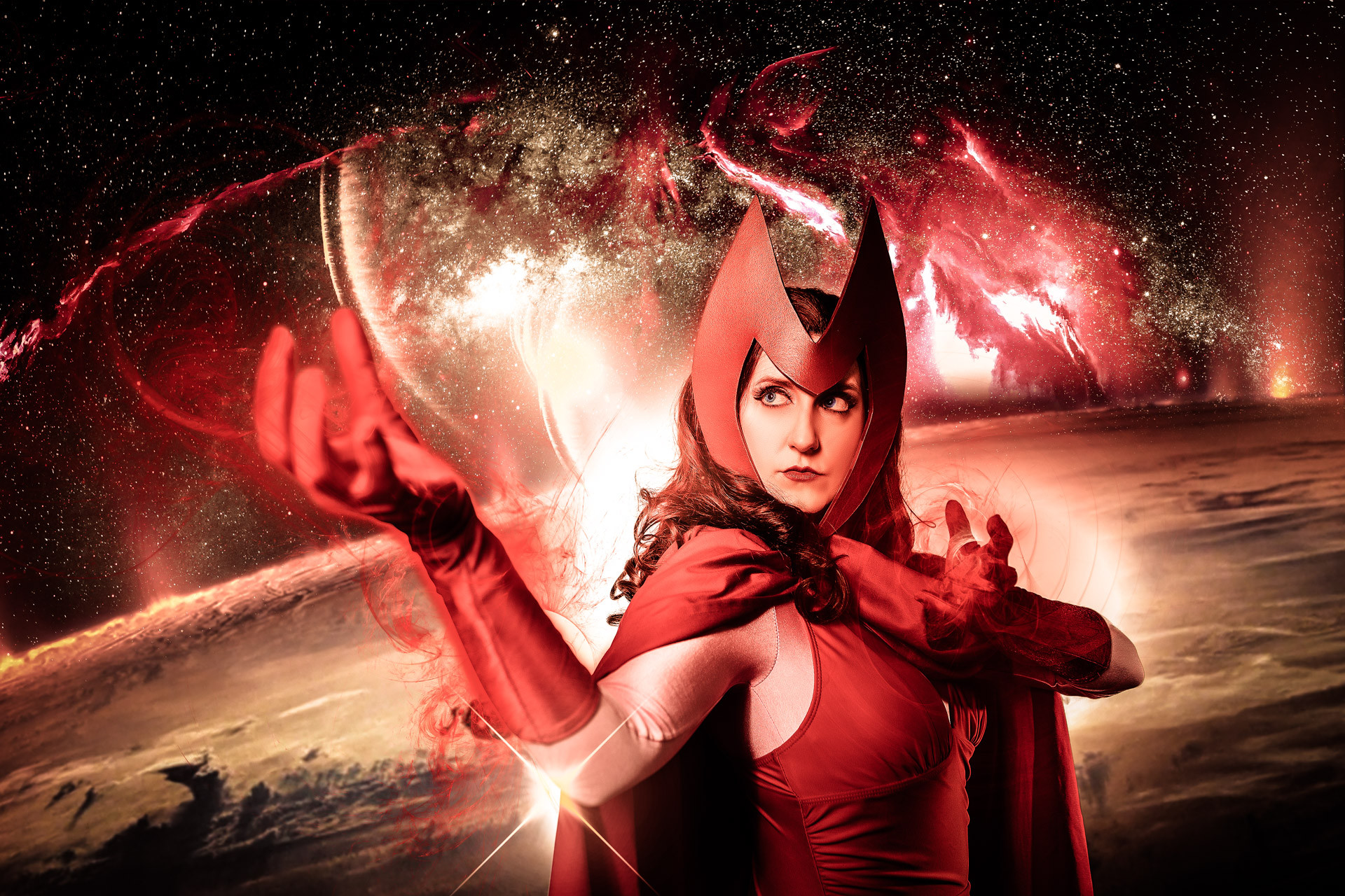 @kyberknightcosplay as Scarlet Witch