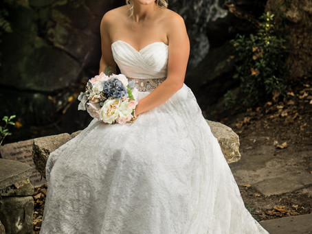Beautiful bride in Hatcher Gardens