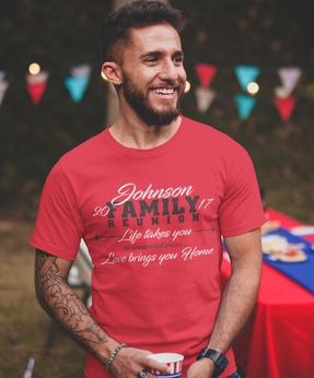 Love Brings You Home - Family Reunion t-shirt design template download