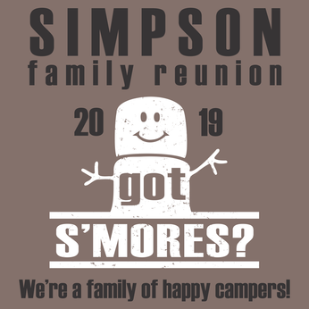Happy Camper S'mores - Family Reunion t-shirt design template download