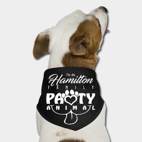 Custom Dog Pet Bandana for Family Reunion