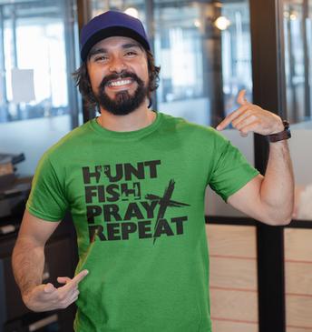 Hunt Fish Pray Repeat t-shirt.png