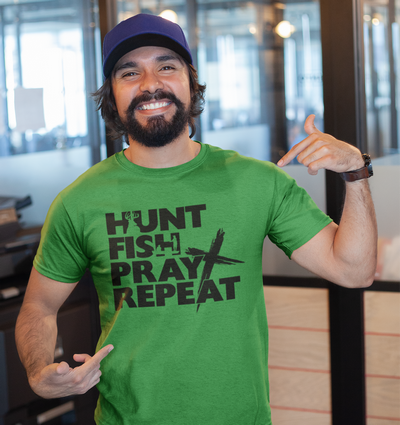 Hunt Fish Pray Repeat t-shirt.png