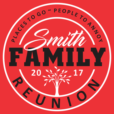 Family Reunion t-shirt design template download