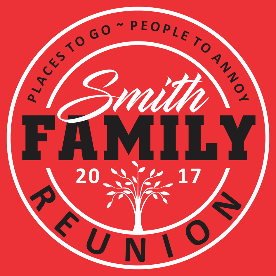 Family Reunion t-shirt design template download