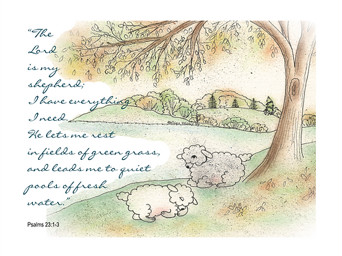 Good Shepherd Lambs Printable Note Cards (2 Designs)