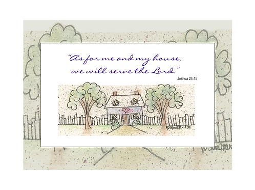 As For Me & My House Printable Note Cards