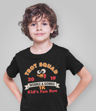 Trot Squad 1K Kids Thanksgiving Turkey T