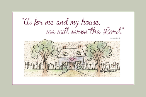 As For Me & My House 4x6 Printable Wall / Framed Art