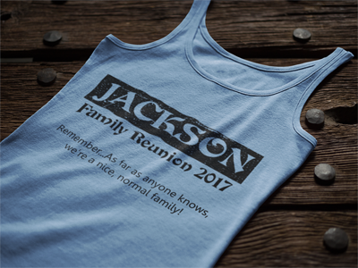 Custom Family Reunion T-Shirt Tank Top Designs
