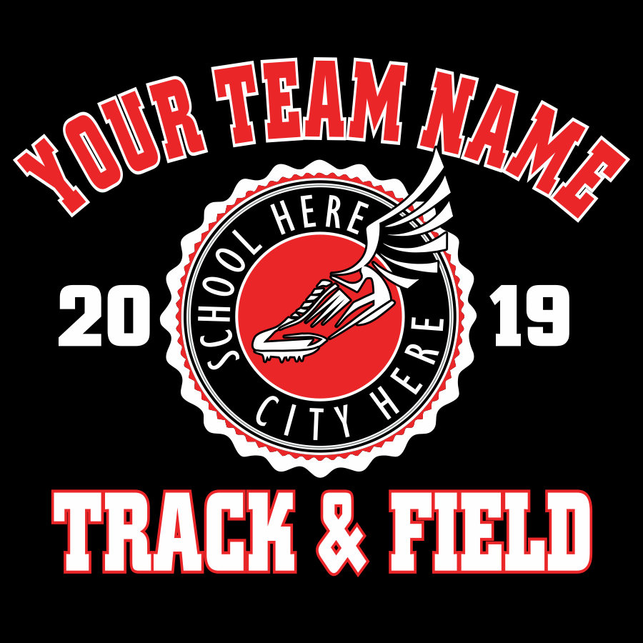 Track & Field t-shirt design template download